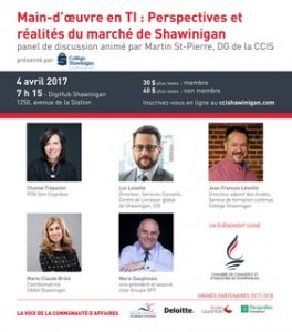 D jeuner panel de discussion sur la main d uvre en ti for Chambre de commerce shawinigan